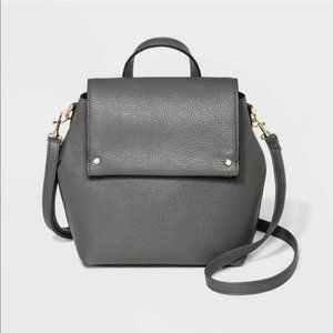 A New Day Convertible Backpack Crossbody Gray